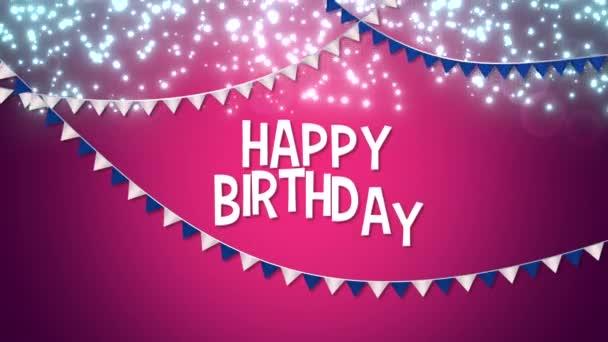 animovaný detailní vše nejlepší k narozeninám s barevným věncem text na pozadí dovolené