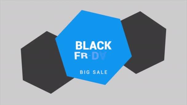 Animáció intro szöveg Fekete péntek szürke divat és minimalizmus háttér geometrikus alakú