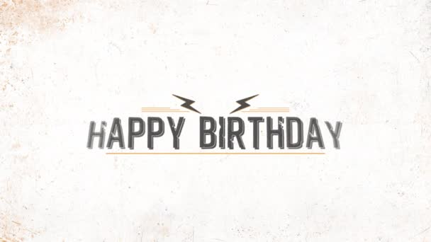 Animáció intro szöveg Boldog születésnapot fehér hipszter és grunge háttér