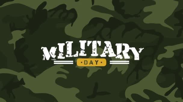 Animációs szöveg Katonai nap katonai háttérrel