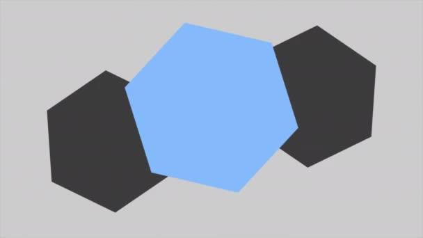 Návrh abstraktní geometrický modrý tvar, retro pozadí