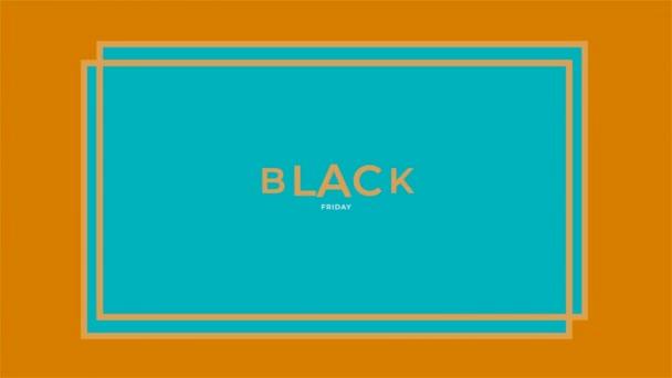 Animáció intro szöveg Fekete péntek a kék divat és minimalizmus háttér geometrikus alakú
