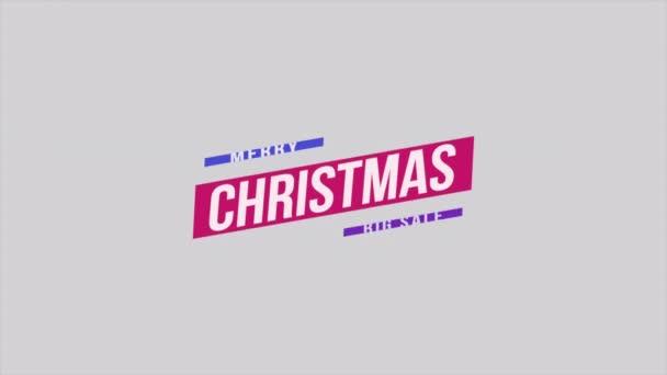 Animáció intro szöveg Boldog karácsonyt a fehér divat és minimalizmus háttér geometrikus alakú