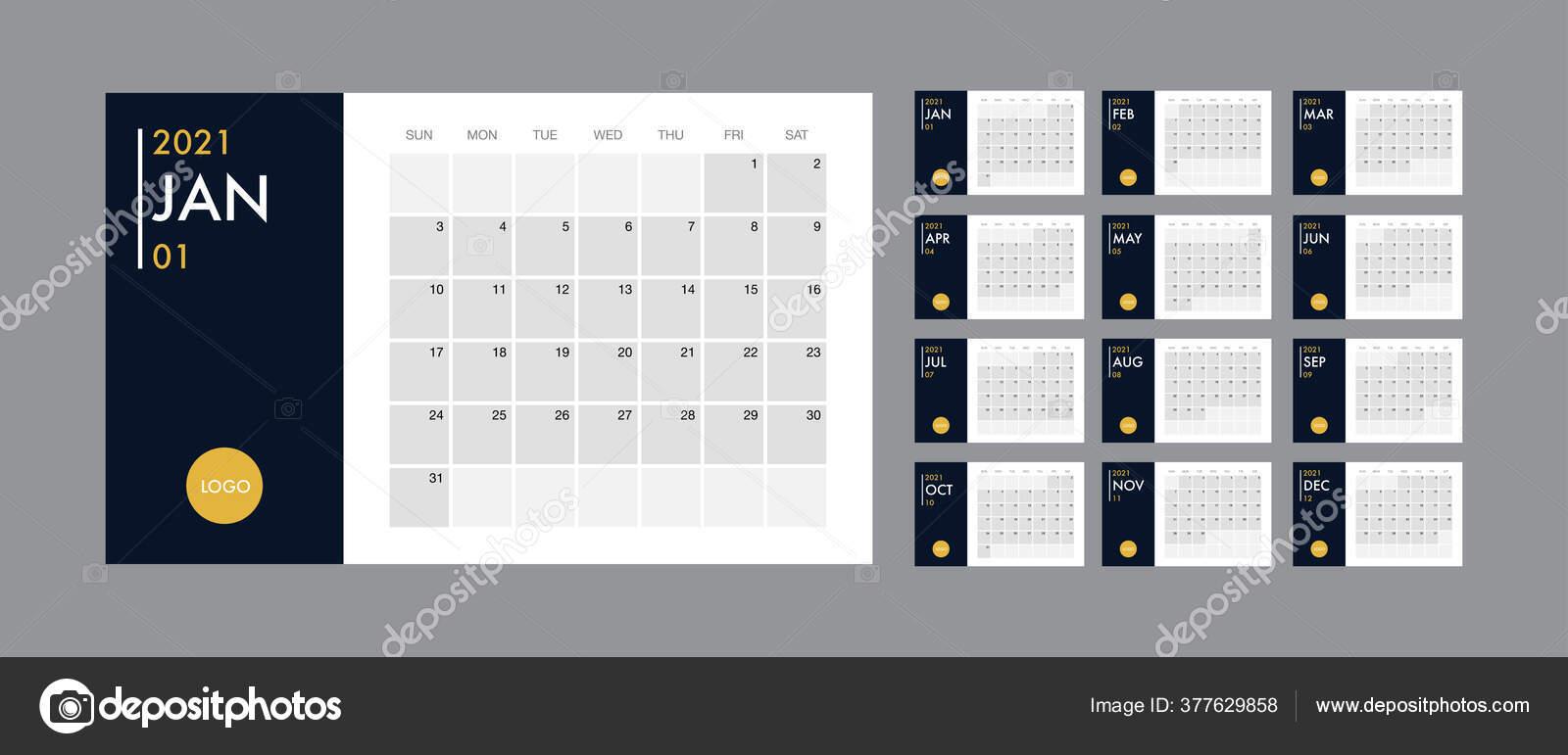 Calendrier 2021 En Couleur Calendrier 2021 modèle planificateur vectoriel journal dans un