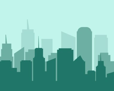 Flat design city landscape cityscape.