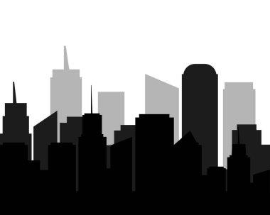 city shadows black tone.