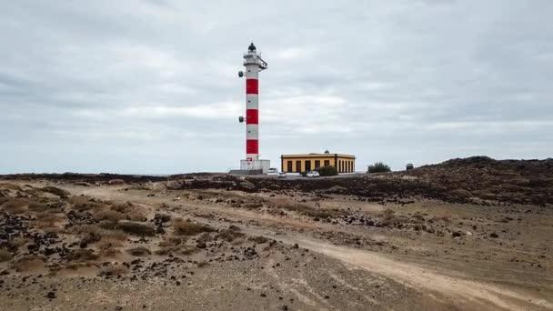 Old lighthouse in Punta de Abona beach. Landmark on the south of Tenerife, Canary islands, Spain.