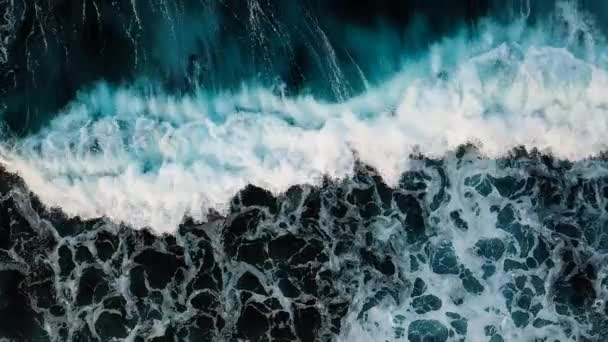 top view of water surface with sea waves at daytime