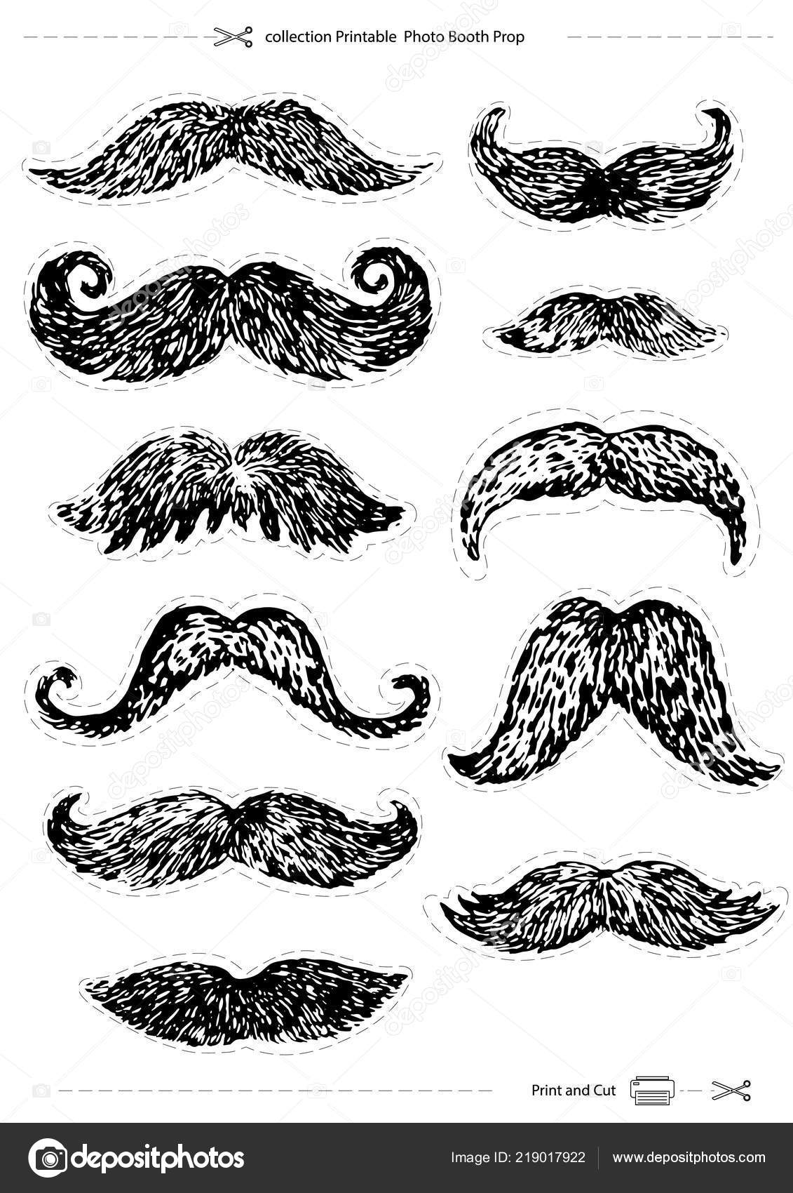 photo regarding Printable Mustaches identify Illustrations or photos : printable mustaches Hand Drawn Mustaches Fixed