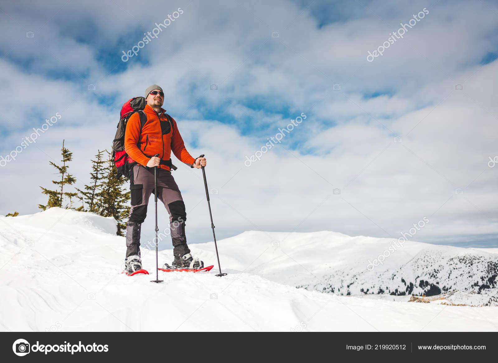velká sleva pečlivé barvicí procesy obchod pro autentické Winter Climbing Mountain Man Snowshoes Climbing Top Winter ...