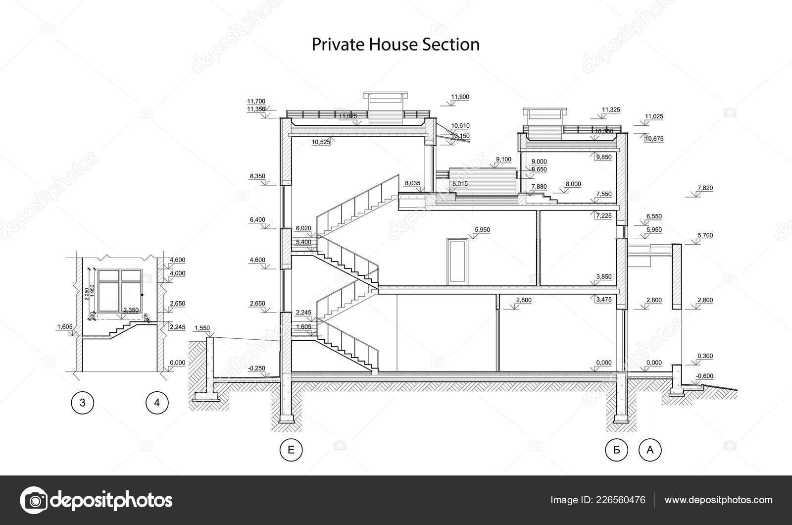 Rodinny Dum Sekce Detailni Architektonicke Technicky Vykres