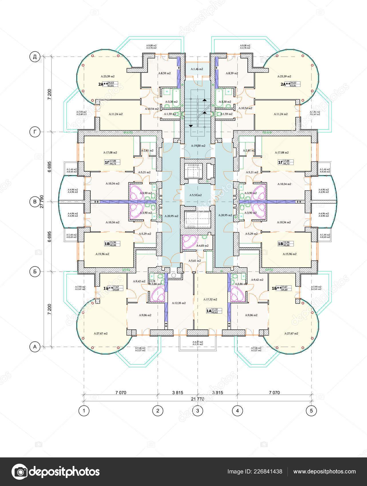 Vicepodlazni Budovy Pudorys Layout Detailni Architektonicke