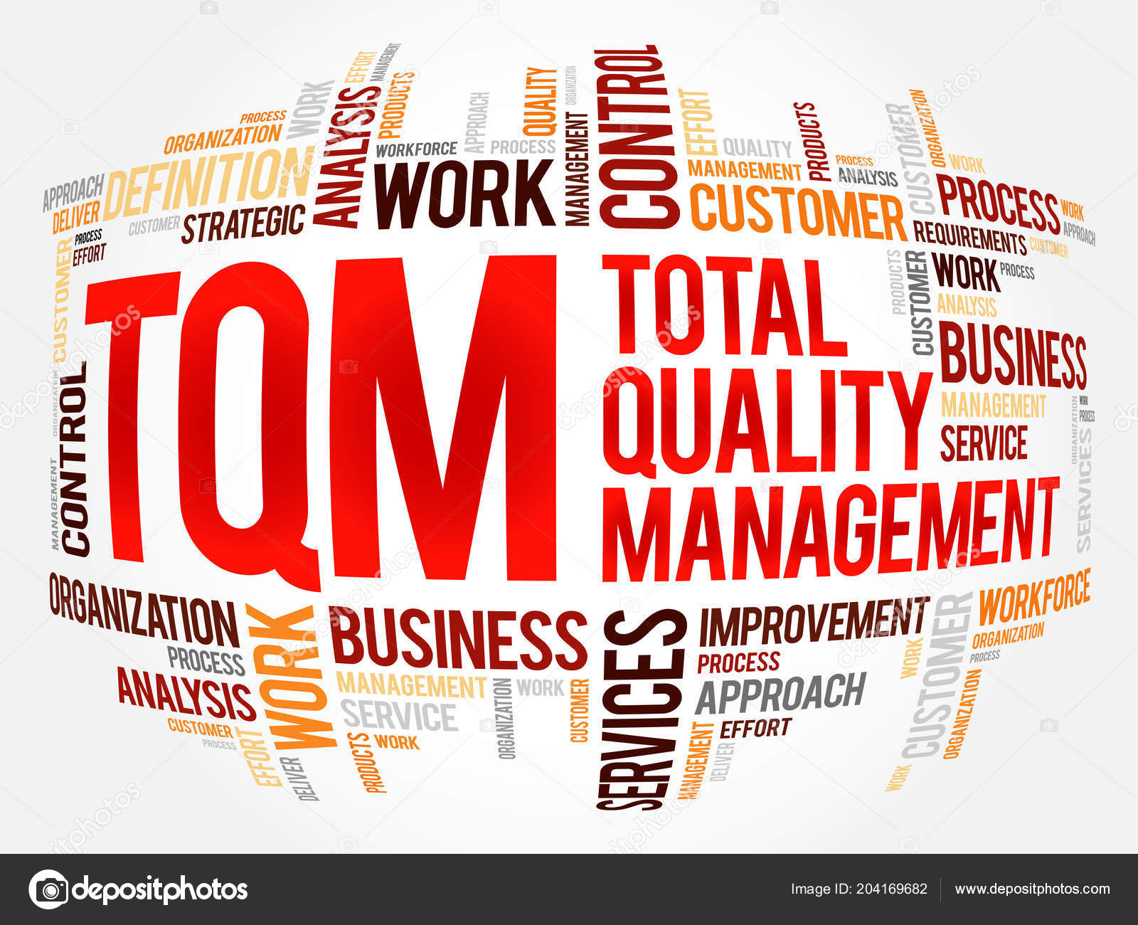 Tqm Total Quality Management Word Cloud Business Concept Background Vector Image By C Dizanna Vector Stock 204169682