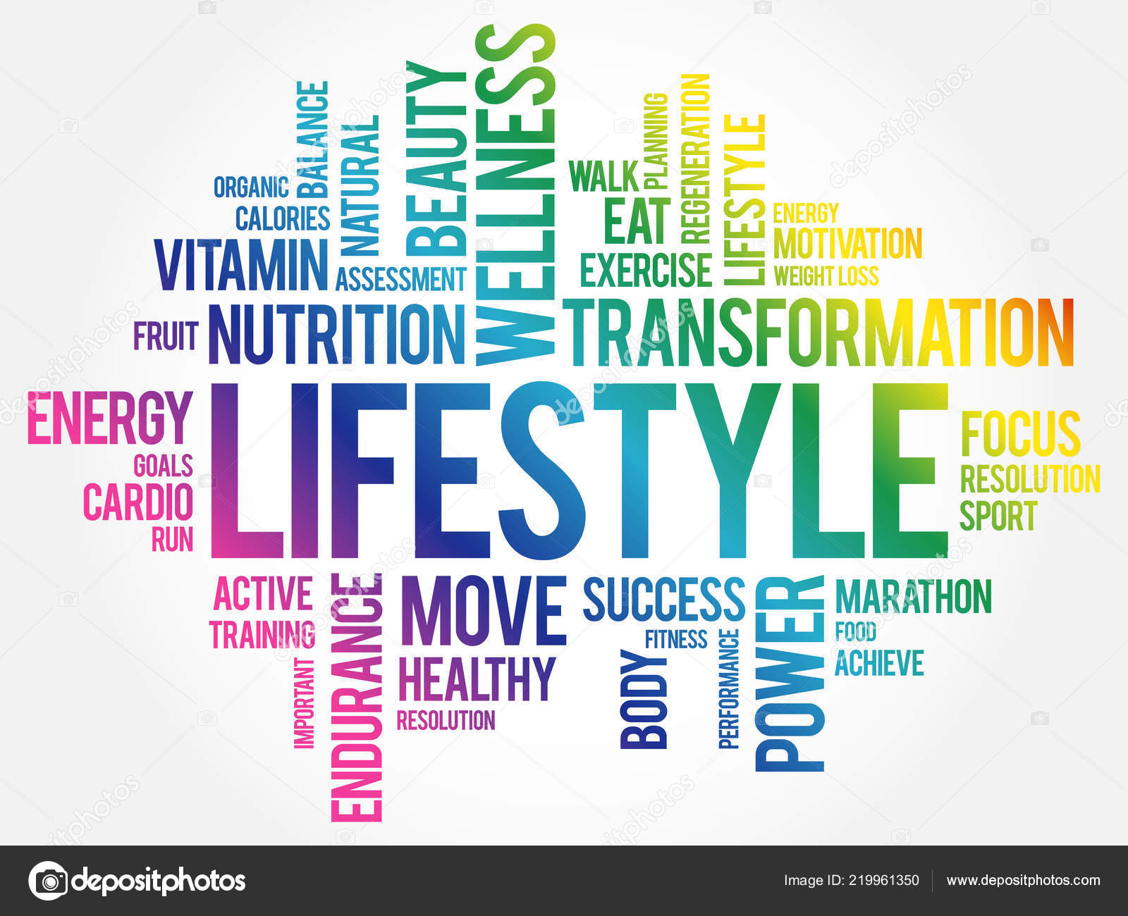 b281804d0d4dd Lifestyle Word Cloud Fitness Sport Health Concept — Stock Vector ...