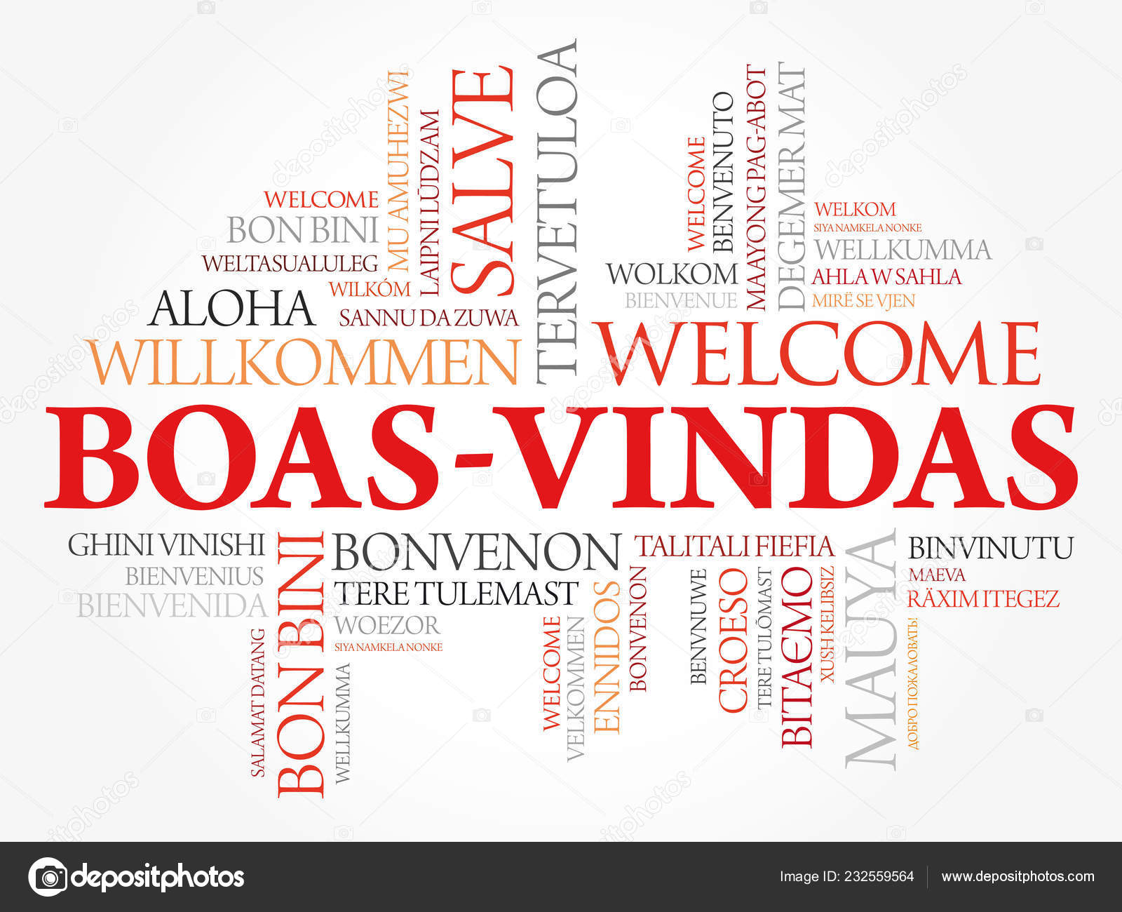 Boas Vindas Welcome Brazilian Portuguese Word Cloud Different Languages Conceptual Stock Vector C Dizanna 232559564