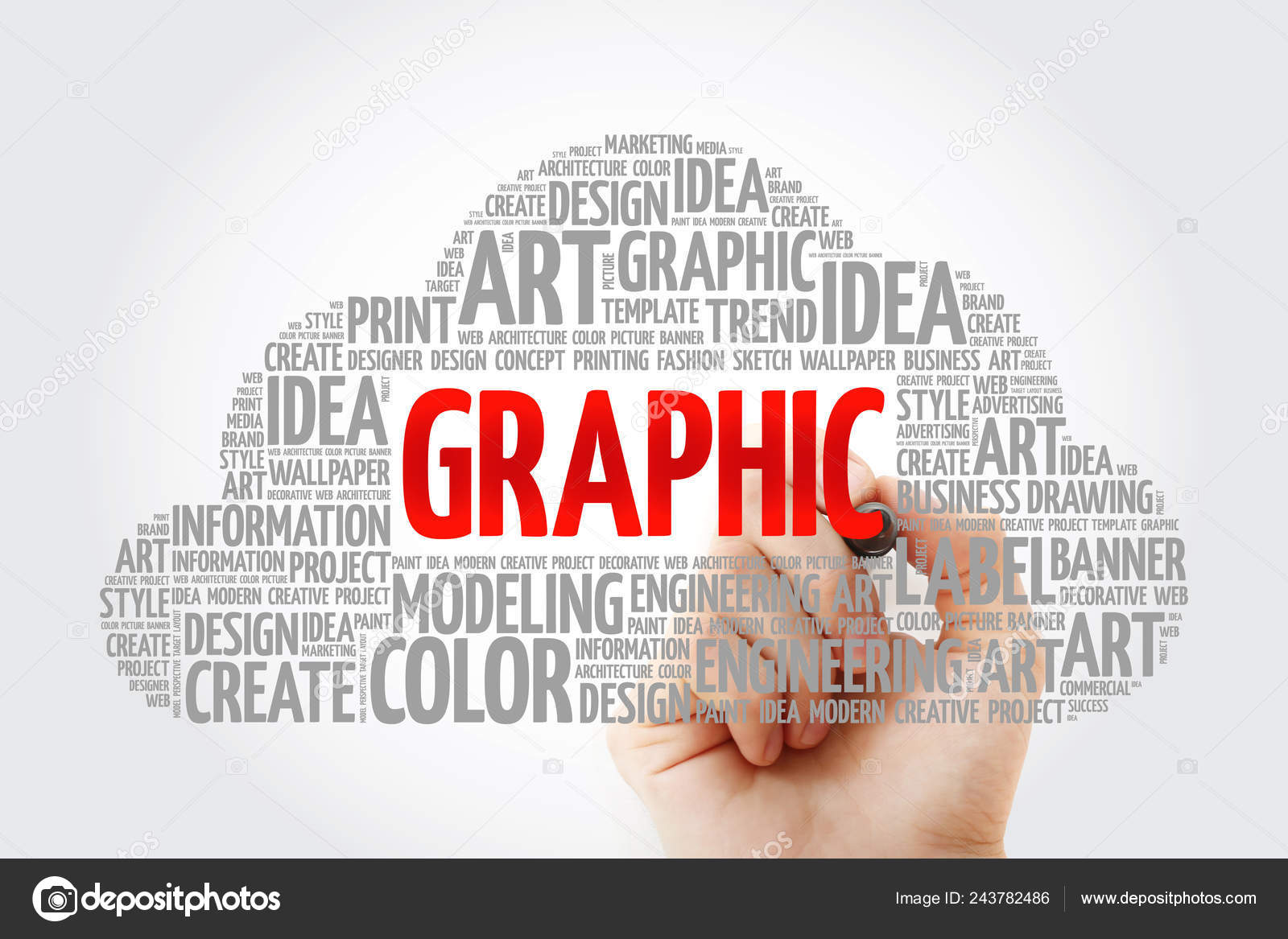 Graphic Word Cloud Marker Creative Business Concept