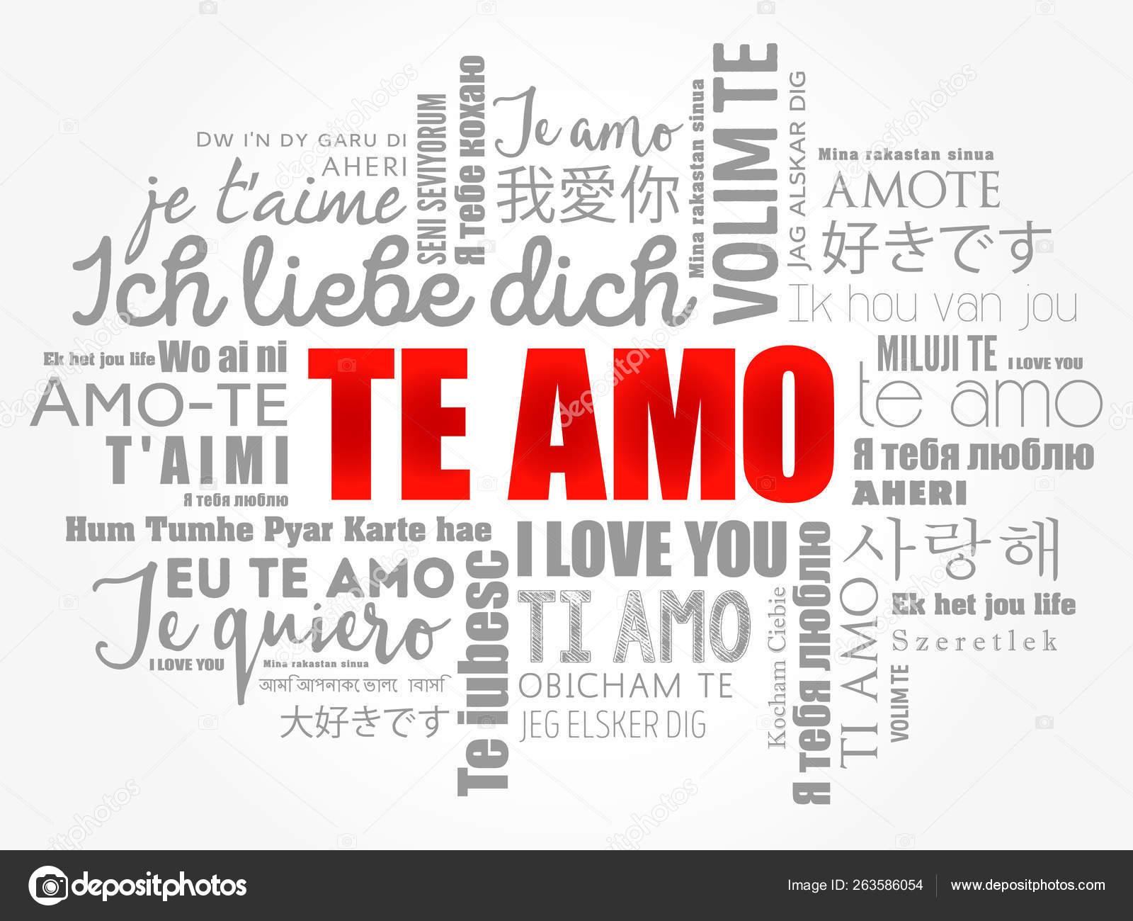 Te Amo I Love You In Spanish Stock Vector C Dizanna 263586054