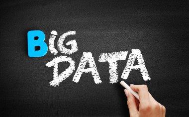 Big Data text on blackboard