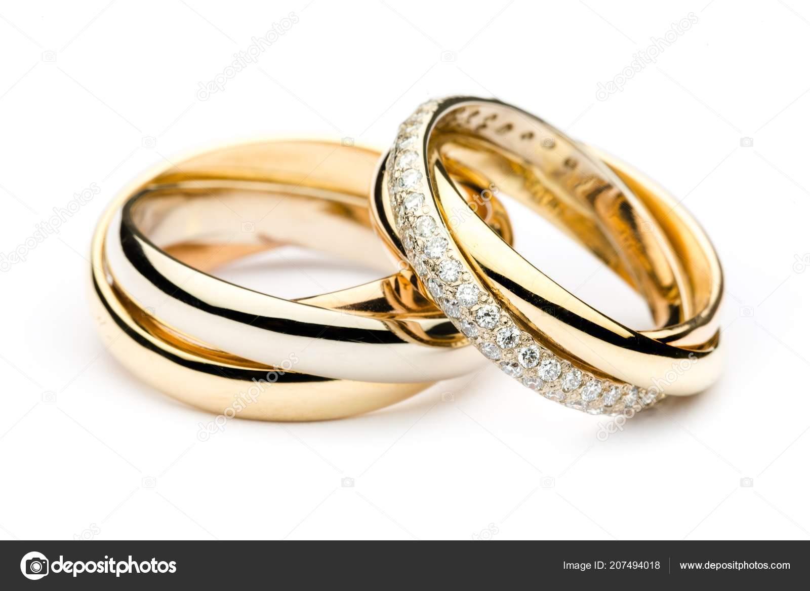 Nahaufnahme Der Goldene Hochzeit Ringe Stockfoto