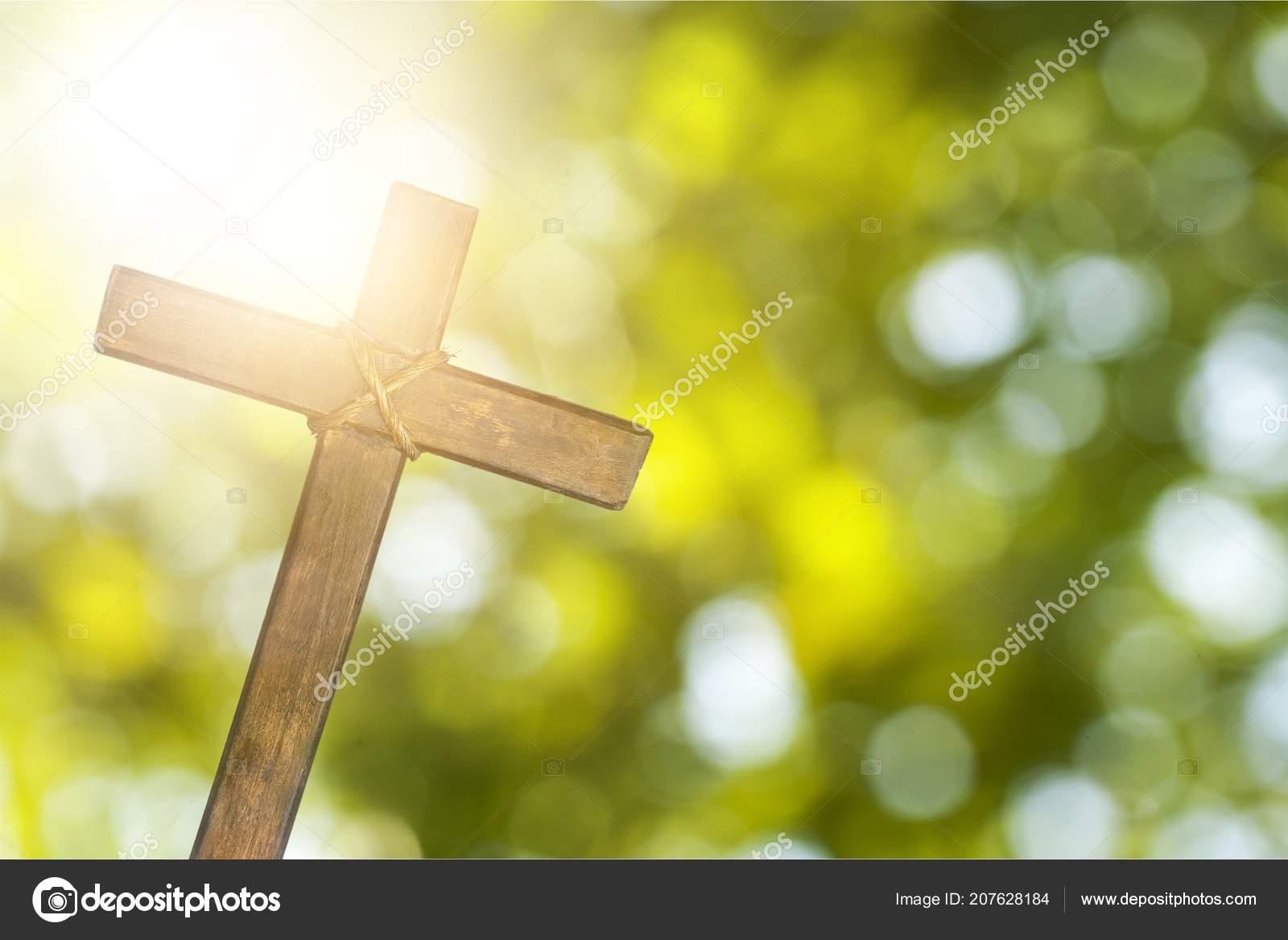 crucifixion jesus christ cross sunlight ストック写真