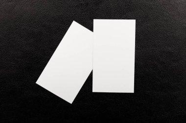 Card business blank mockup advertisement heap print