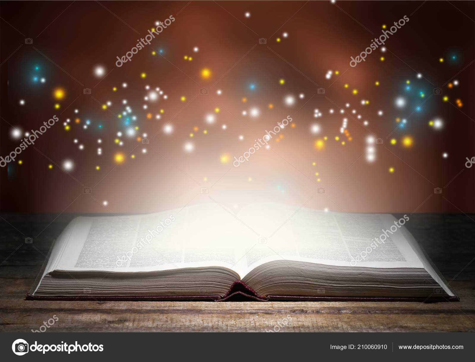 Bible Story Book Light Wisdom Power Background — Stock Photo