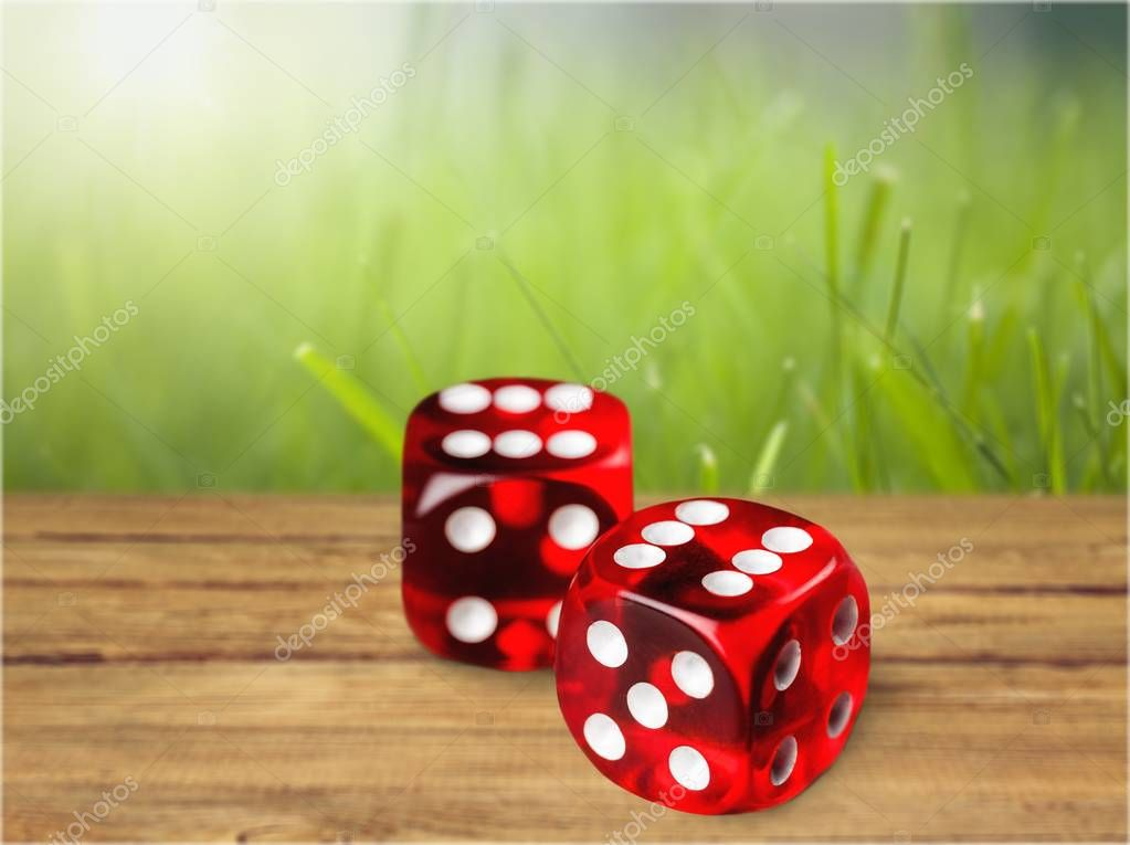 Dice red cube white backgrounds gambling risk