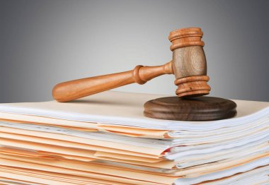 Judge gavel and documents