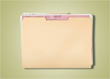 Yellow file folder isolated on background stock vector