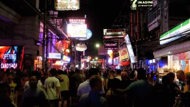 Famous Walking Street in Pattaya at Night. Thailand.