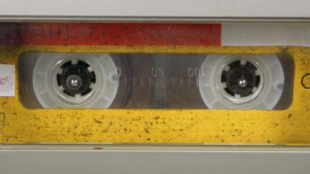 Magnetofon přehrává Audio kazeta v něm vložen. Vintage Audio pásku