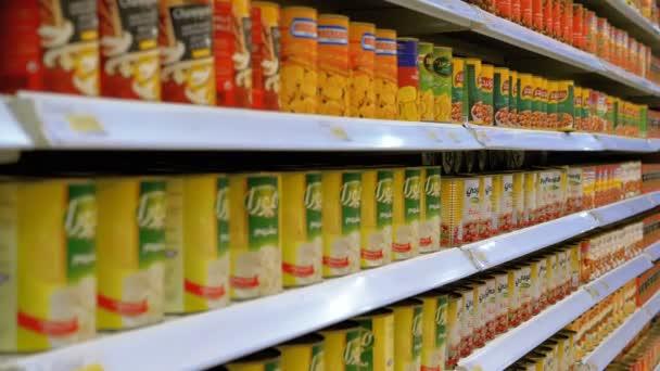 Zboží a produkty, které se zobrazují v obchodech v supermarketech