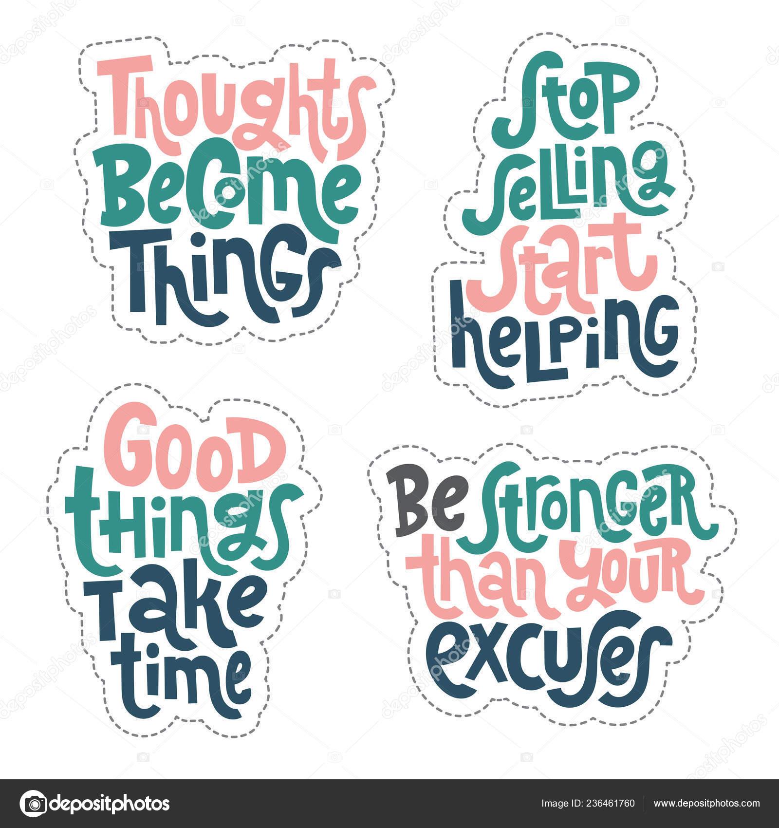 Frases Motivacionales De éxito Archivo Imágenes