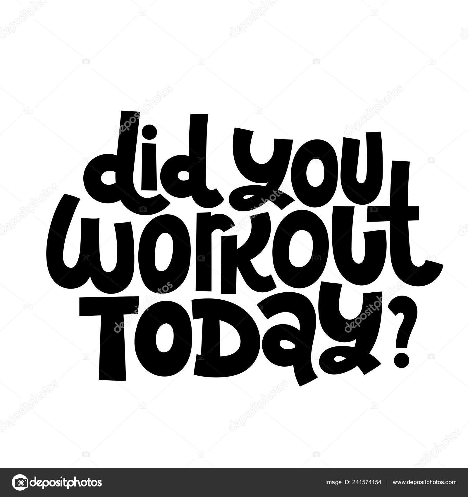 Citas Motivacionales Fitness Vector De Stock
