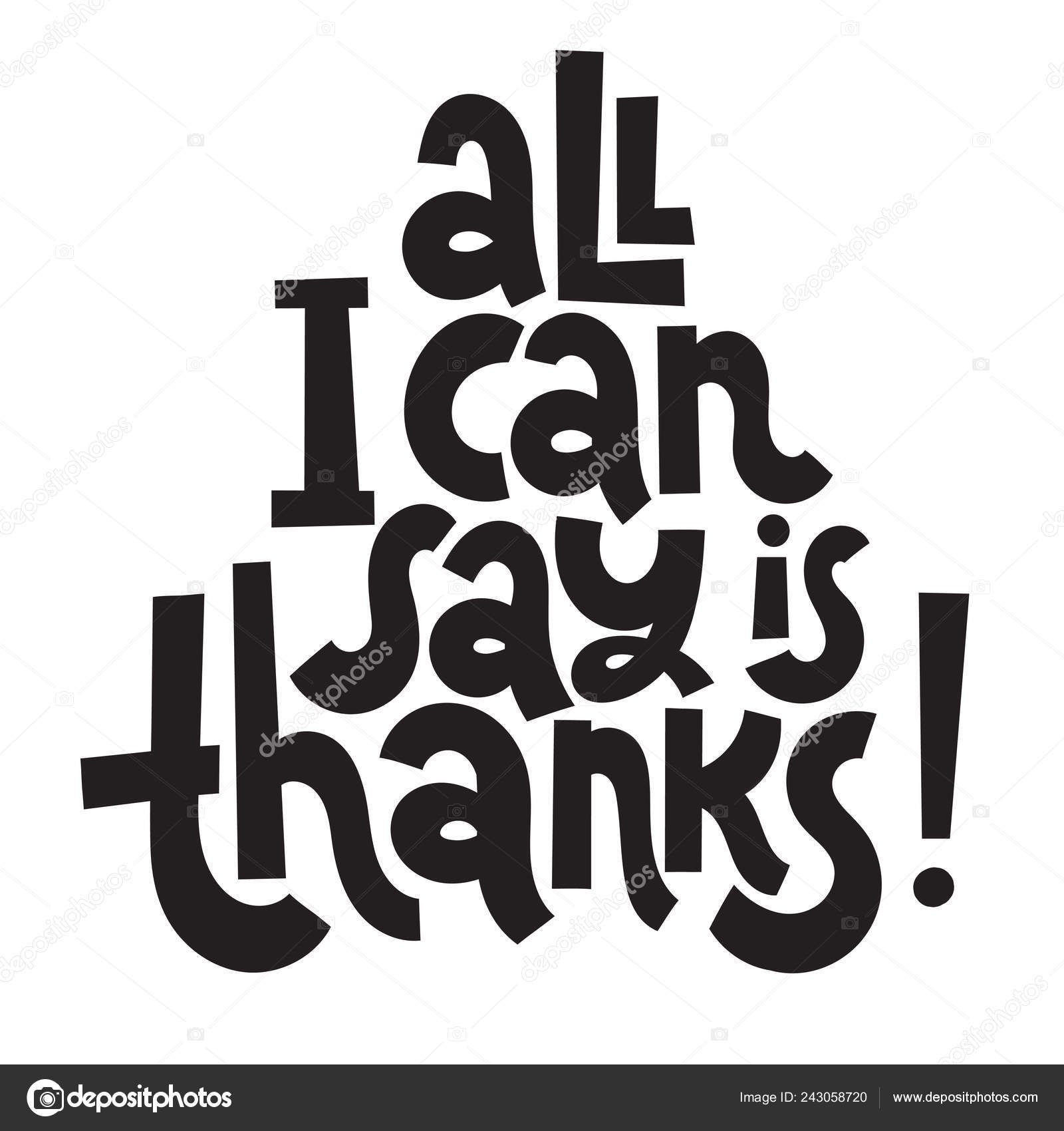 Thank You Quotes And Stickers Stock Vector Svetagaintseva 243058720