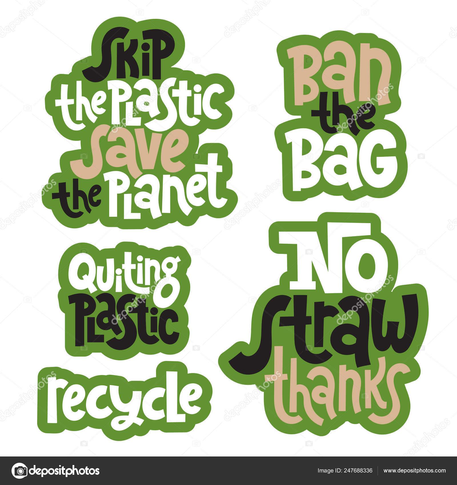 Frases Verdes Sobre Ecología Archivo Imágenes Vectoriales