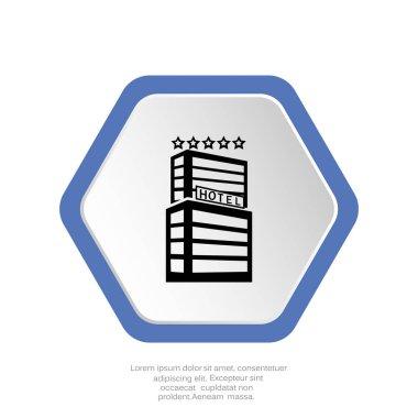 hotel   web  icon, vector illustration