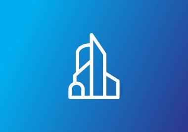 building  web  icon, vector illustration