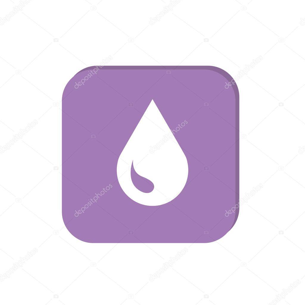 Liquid droplet simple web icon, outline vector illustration