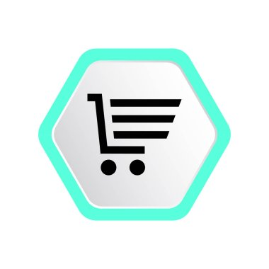 Shopping cart simple web icon, outline vector illustration