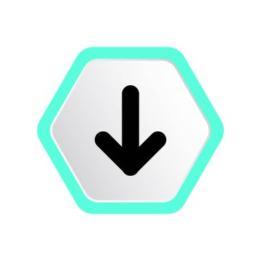 Vector illustration of arrow web icon