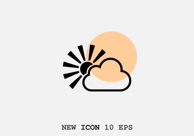cloud sign icon