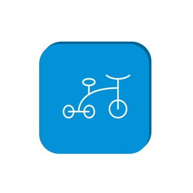 Baby tricycle simple icon