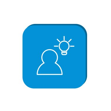 Human and lightbulb simple icon