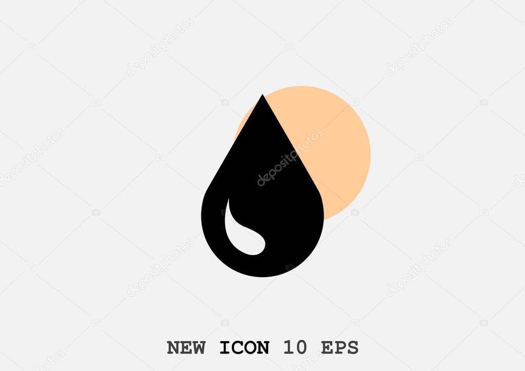 Liquid droplet simple web icon