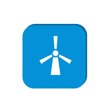 Windmill flat icon for web design