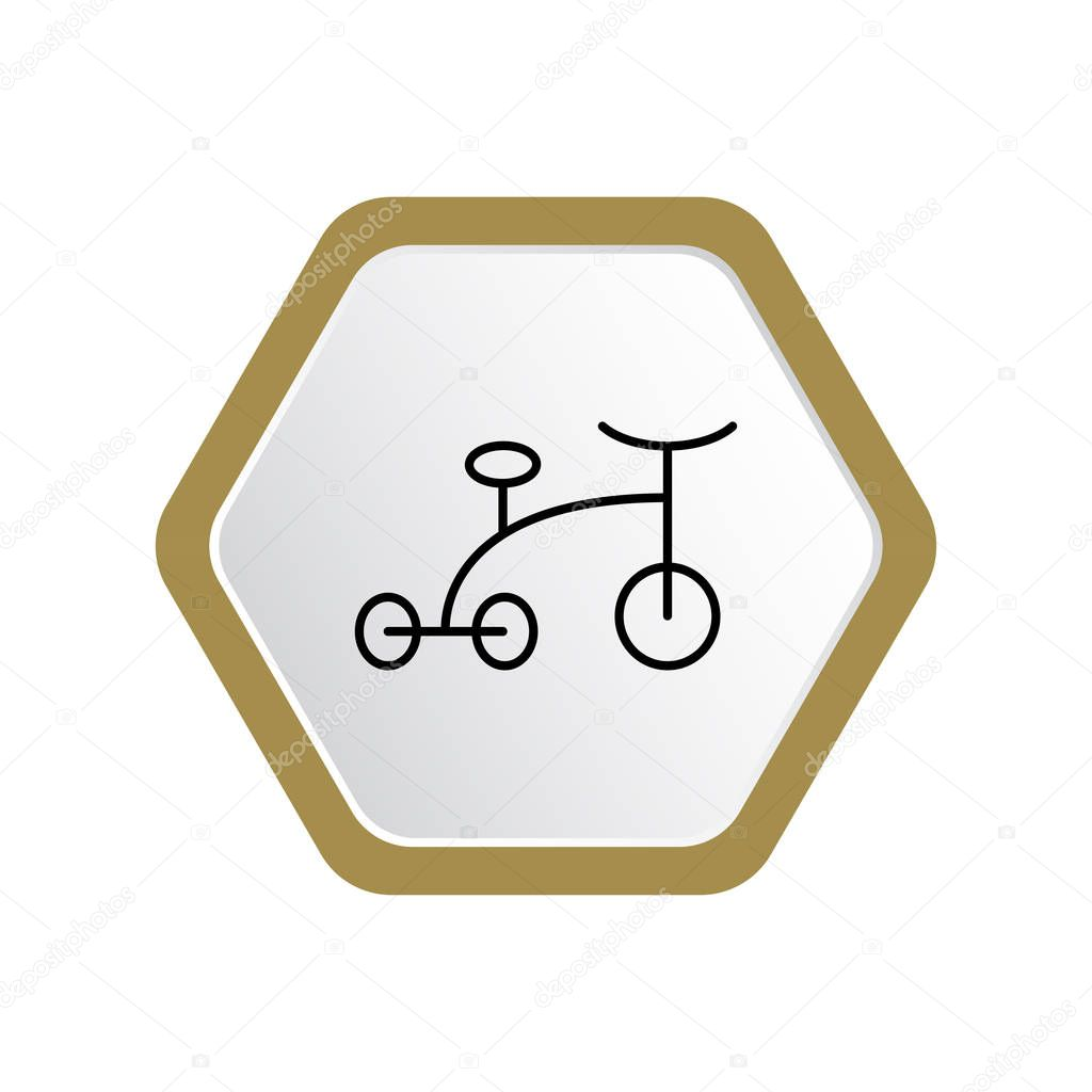 vector illustration of child bicycle