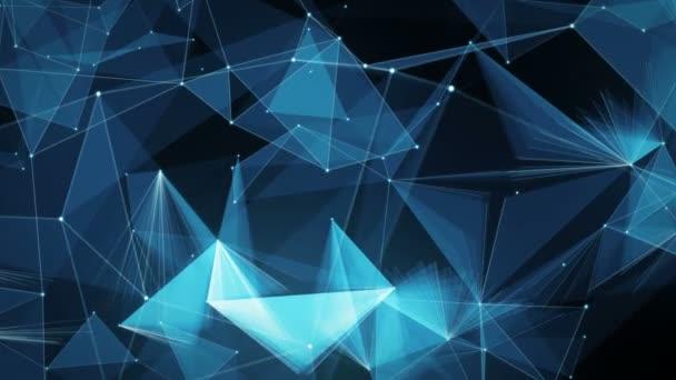 Absztrakt mozgás háttér - digitális Plexus sokszög adathálózatok