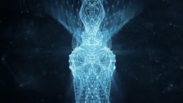 VJ Loop - digitální binární Plexus datové sítě pohybu abstraktní pozadí