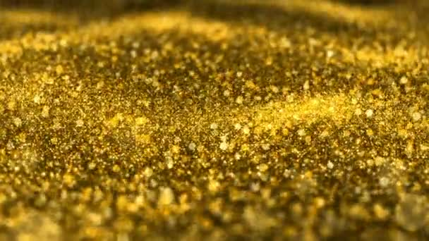 Shiny golden glitter background Christmas abstract seamless VJ loop motion particles